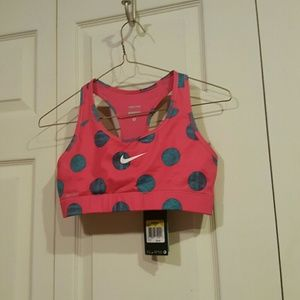NWT Nike Polka Dot Womens Dri Fit Sports Bra